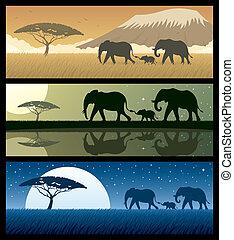 áfrica, 2, paisajes