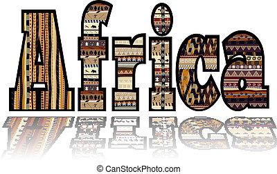 África con elementos tribales
