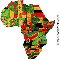 áfrica, viejo, mapa
