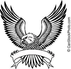 Águila con emblema