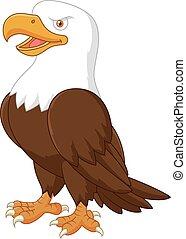 Águila de dibujos animados posando