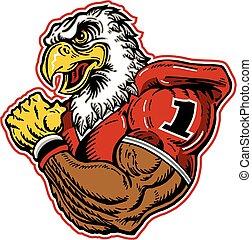 águila, fútbol, mascota