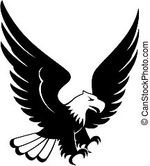 águila, vector, aterrizaje