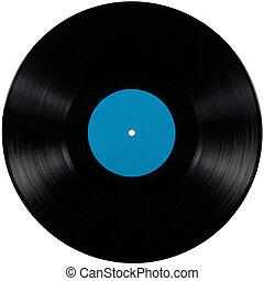 álbum, azul, juego, disc;, aislado, largo, etiqueta, negro, vinilo, elepé, blanco, cian, disco