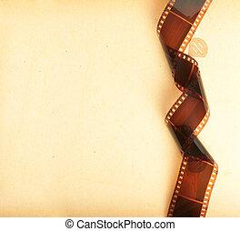 álbum, foto, retro, plano de fondo, filmstrip