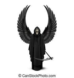 Ángel de la muerte con dos alas