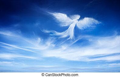 Ángel en el cielo