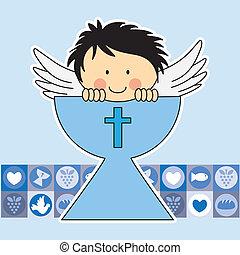 Ángel en el Santo Grial. Primer comunicado