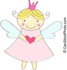 ángel, poco, tarjeta de felicitación
