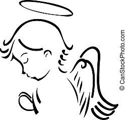 Ángel rezando