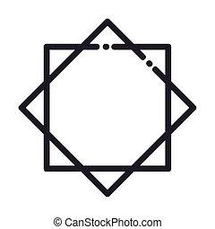 árabe, línea, icono, estilo, celebración, ramadan, islámico
