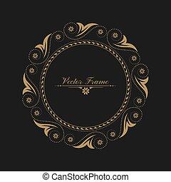árabe, patrón circular