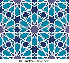 Árabe sin marcas en azul y gris