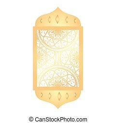 árabe, tradicional, ornamental, arco, islámico, musulmán