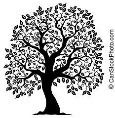 árbol 3, silueta, formado