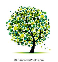 Árbol abstracto verde para tu diseño