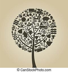 árbol, agricultura