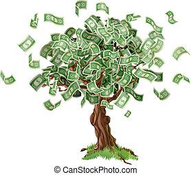 Árbol de ahorro de dinero