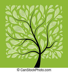 Árbol de arte hermoso para tu diseño