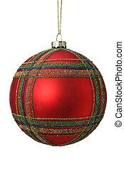 Árbol de baile de Navidad rojo aislado