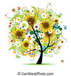 Árbol de flores hermoso