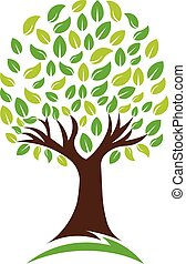 Árbol de la naturaleza verde, logo vectorial
