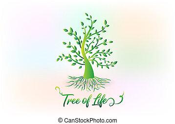 Árbol de logo con hojas símbolo ecológico