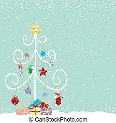 Árbol de Navidad abstracto y colorido