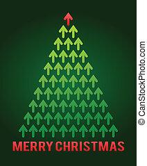 Árbol de Navidad Arrow, tema de negocios