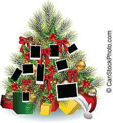 Árbol de Navidad con marco