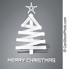 Árbol de Navidad de tiras de papel