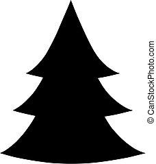 Árbol de Navidad estilo Vector plana