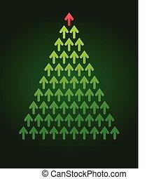Árbol de Navidad Flecha, tema de negocios