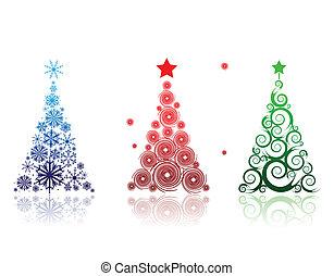 Árbol de Navidad hermoso para tu diseño
