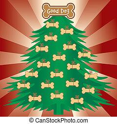 Árbol de Navidad para buenos perros