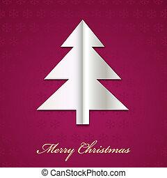 Árbol de Navidad Vector hecho de papel