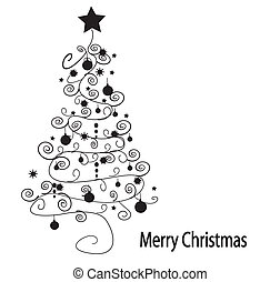 Árbol de Navidad. Vector