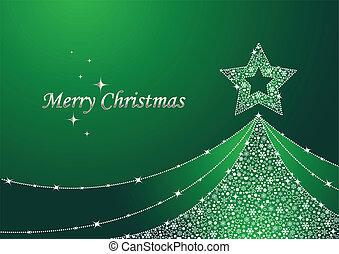 Árbol de Navidad verde