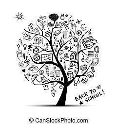 Árbol del conocimiento, concepto de la escuela para tu diseño