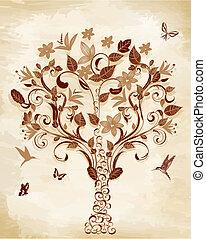 Árbol en papiro