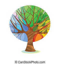 Árbol estilizado - cuatro temporadas