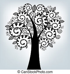 Árbol estilizado negro