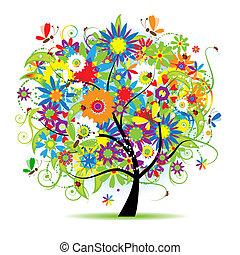 Árbol floral hermoso