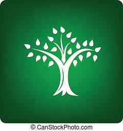 árbol, icono