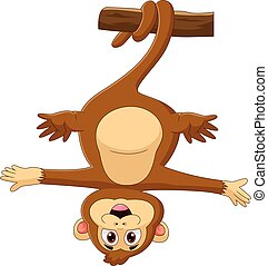 árbol, mono, caricatura, ahorcadura