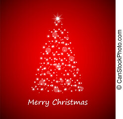 árbol, navidad, estrellas