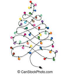 árbol, navidad, guirnalda