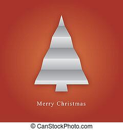 Árbol navideño hecho de papel