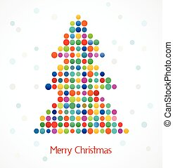 árbol, pixel, navidad