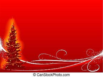 Árbol rojo de Navidad